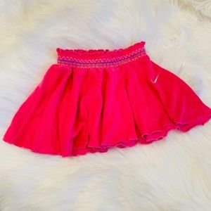 NWOT NIKE hot pink terry cloth skirt